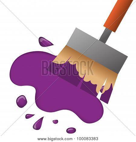 Paint splash design