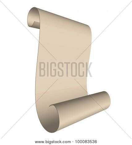 Illustration of an ancient scroll