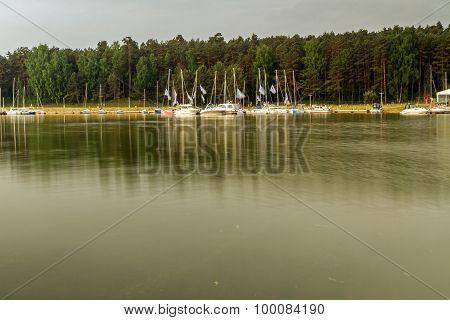 Yachts In Lagoon