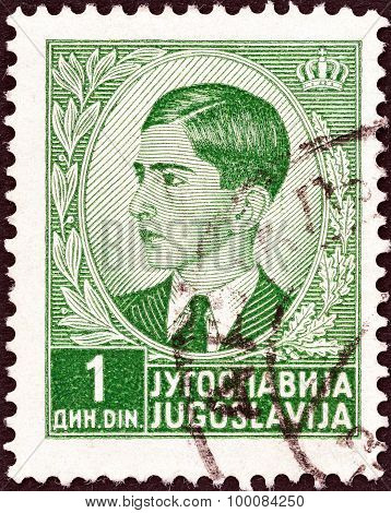 YUGOSLAVIA - CIRCA 1939: A stamp printed in Yugoslavia shows King Peter II