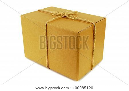 Cardboard Box Tied With Rope
