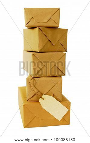 Tall Stack Of Wrapped Packages