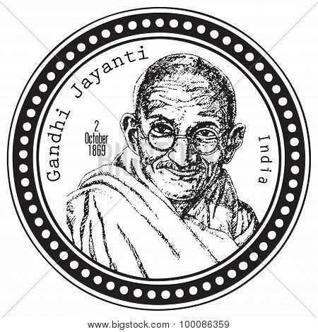 Stamp Print Gandhi Jayanti