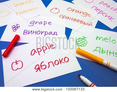 Making Language Flash Cards; Russian