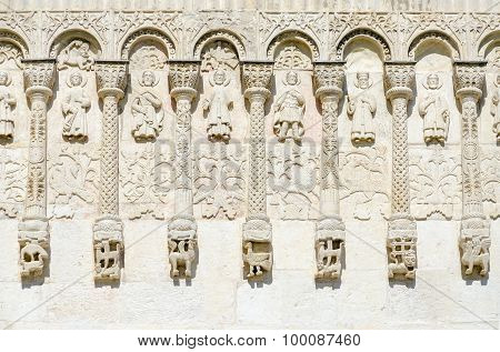 Fragment Of Wall Of Dmitrievsky Cathedral With Stone Carvings, Vladimir, Russia