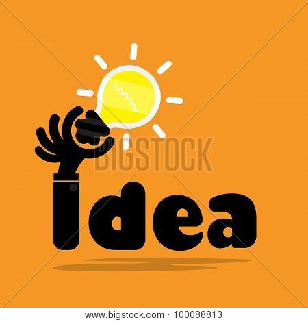 Creative Bulb Light Idea,flat Design.concept Of Ideas Inspiration, Innovation, Invention, Effective