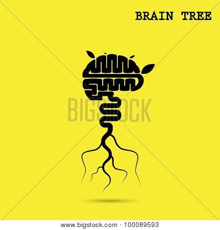 Creative Brain Tree Abstract Vector Logo Design Template.corporate Business Industrial Creative Logo