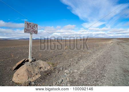 Desert road in Iceland