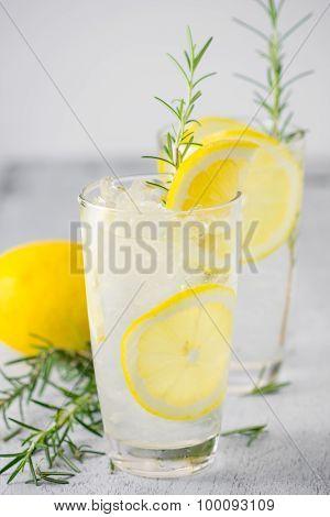 Lemonade With Fresh Lemon And Rosemary