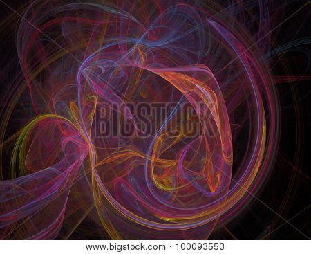 Abstract Fractal Background Varicolored