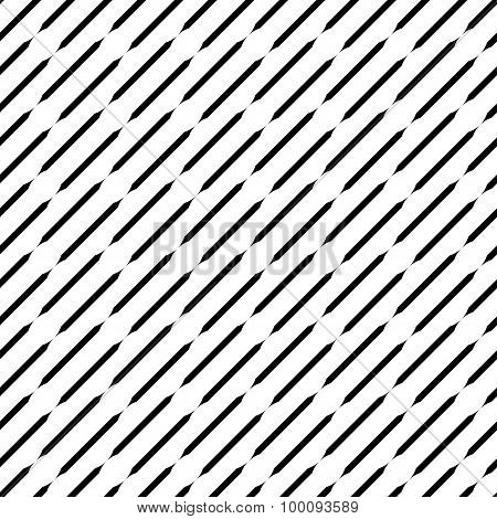 Black And White Geometric Seamless Pattern, Abstract Background.