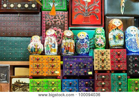 The variety of decorative wooden boxes and wooden tows known as