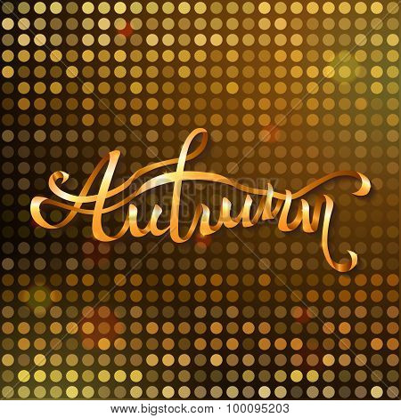 Gold Autumn Background.