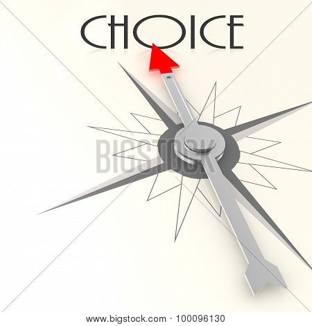 Compass With Choice Word