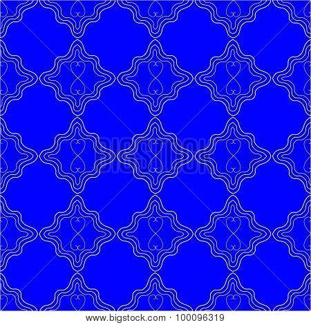 Bright Blue Seamles Pattern Background