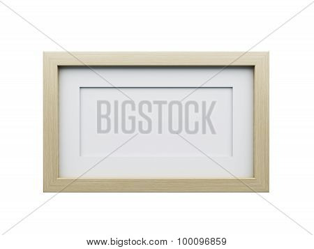 Realistic Picture Frame Isolated On White Background.