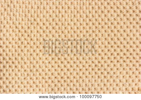 Brown Waffle Patterned Cloth.