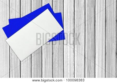 Envelope Mail, Over White Wooden Background. Valentine Day, Love Wedding Concept
