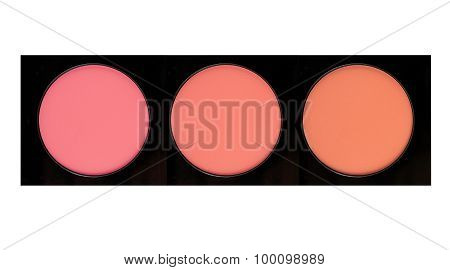 Face Blush Isolated On White Background