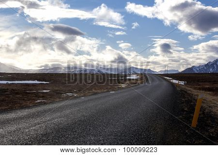 Ring Road In Iceland In Spring