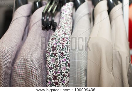 shirt with flower print and jackets