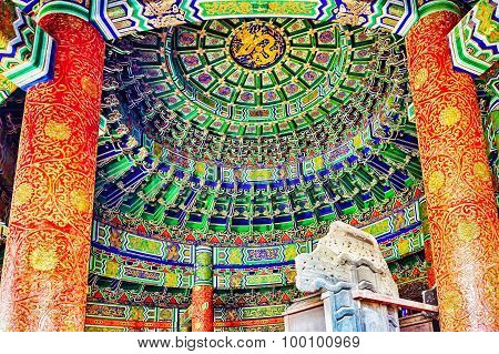 Inside In  Imperial Vault Of Heaven On The Complex Temple Of Heaven In Beijing.