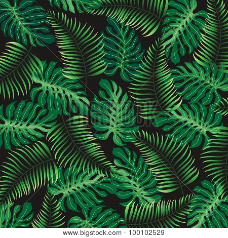 Tropical Pattern  - vector background
