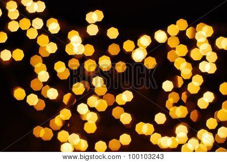 Bokeh Of Many Orage Lamp