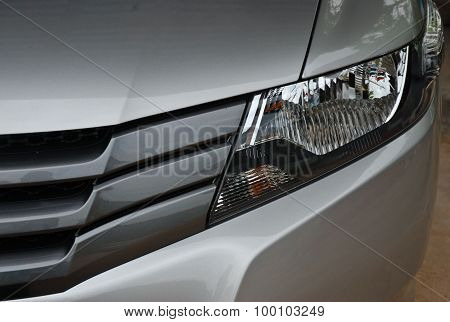 Headlight In Front Of Car