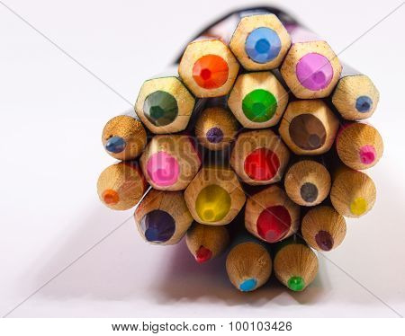 Colorful Pencil Crayons. Back To School