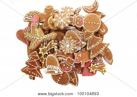 Christmas Ginger Bread Isolated