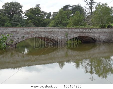 Lakeside Bridge Reflections And Forest Rural Landscape