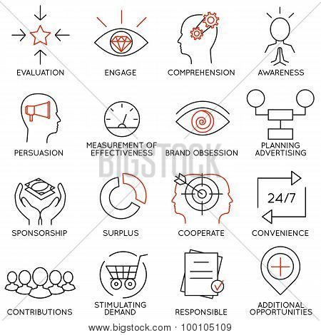 Vector Set Of 16 Icons Related To Business Management - part 10