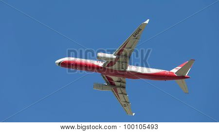 Bright Passenger Plane Tu-204