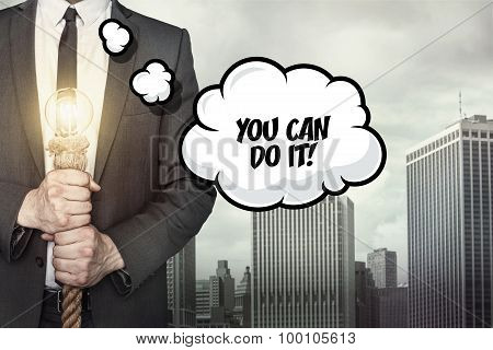 You can do it text on speech bubble