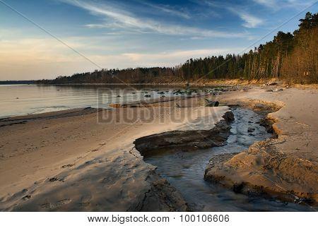 Brook at the sea