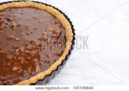 Pastry Case Filled With Nutty Pecan Pie Filling