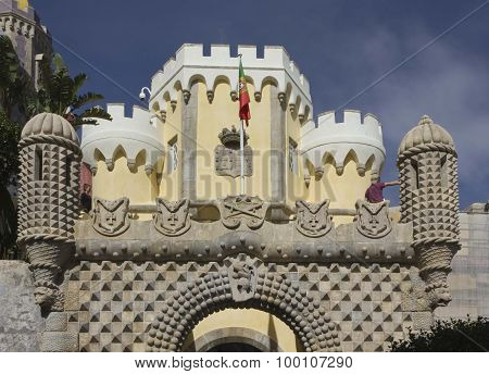 Entrance Gate Of Pena National Palace