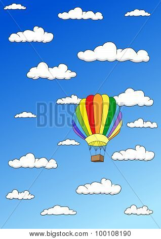Colorful Balloon In The Sky