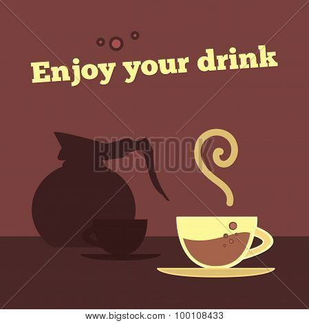 Poster, Banner With Coffee Cup
