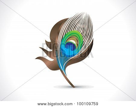 Abstract Artistic Peacock Feather