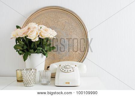 Apartment decoration retro style