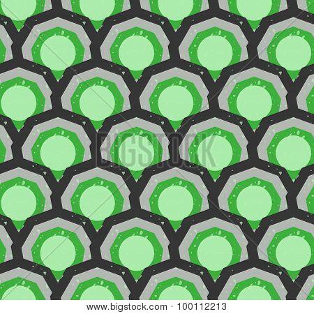 Grunge colorful geometric seamless pattern