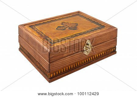 Beautiful Carved Wooden Casket