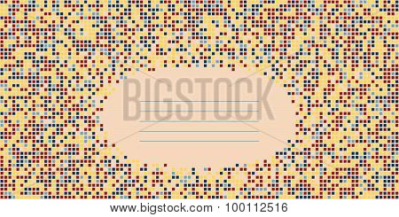 Geometric template with copy space for text. Abstract background.