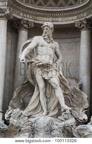 Neptune Statue, Trevi Fountain, Rome