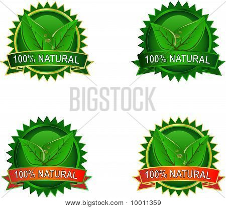 Natural Eco Product Labels
