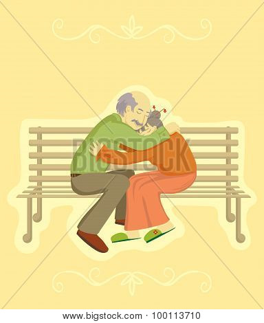 Grandparents Day. Vector design element