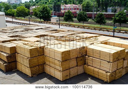 Timber On Construction Site