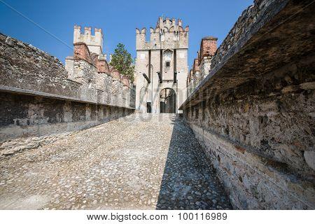 Old Castle In The City Sirmione At The Lago Di Garda